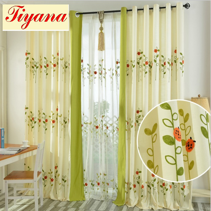 ①Mariquitas de la historieta patrón bordado cortina de tela