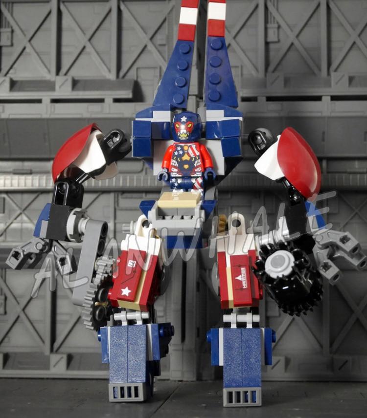 395pcs Super heroes Avengers Detroit Steel Strikes Robots Mech 10674 Model Building Blocks Toys Bricks Sets Compatible With Lego