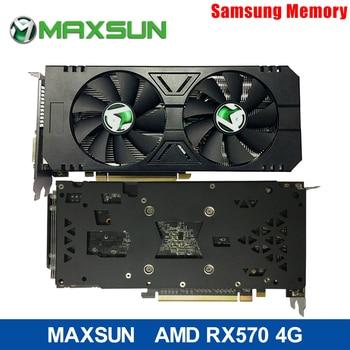 GPU Card MAXSUN RX 570 4G graphics cards 7000MHz GDDR5 256bits HDMI+DVI+DP*3 PCI-X16 express3 2048units 14nm 150W 8pin for ETH
