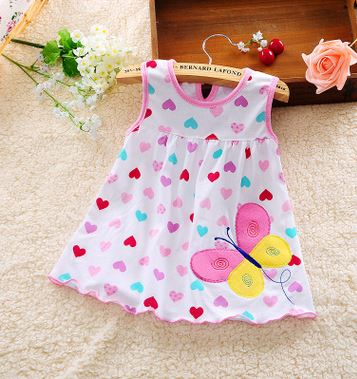 2017-other-new-baby-cute-girl-wearing-a-sleeveless-dress-to-wear-casual-clothing-cotton-100-conventional-micro-Princess-0-24-mo-1