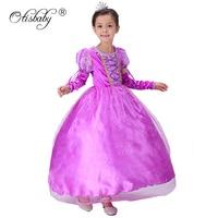 Brand Girls Sofia Dresses With Diamonds Kids Rapunzel Tutu Dress Children Party Cosplay Costumes Girls Princess