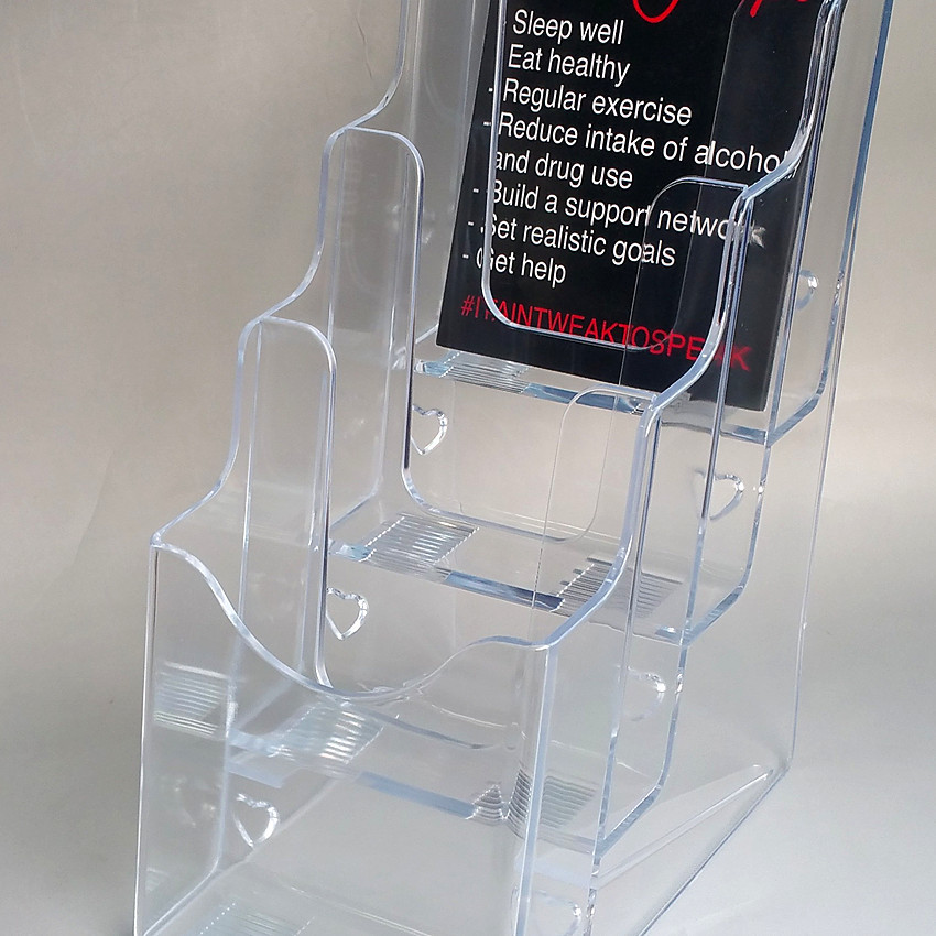 Desk Accessories & Organizer Punctual Promotion Four Pockets Clear Desktop Office Counter Acrylic Business Card Holder Stand Display Fit For Office School Best Volume Large Office & School Supplies