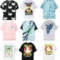 Europa ripndip marés das mulheres dos homens camo camiseta alienígena cat bolso de alta Rua qualidade RIP N DIP Caixa T-Shirt DO LOGOTIPO 3d de Manga Curta T