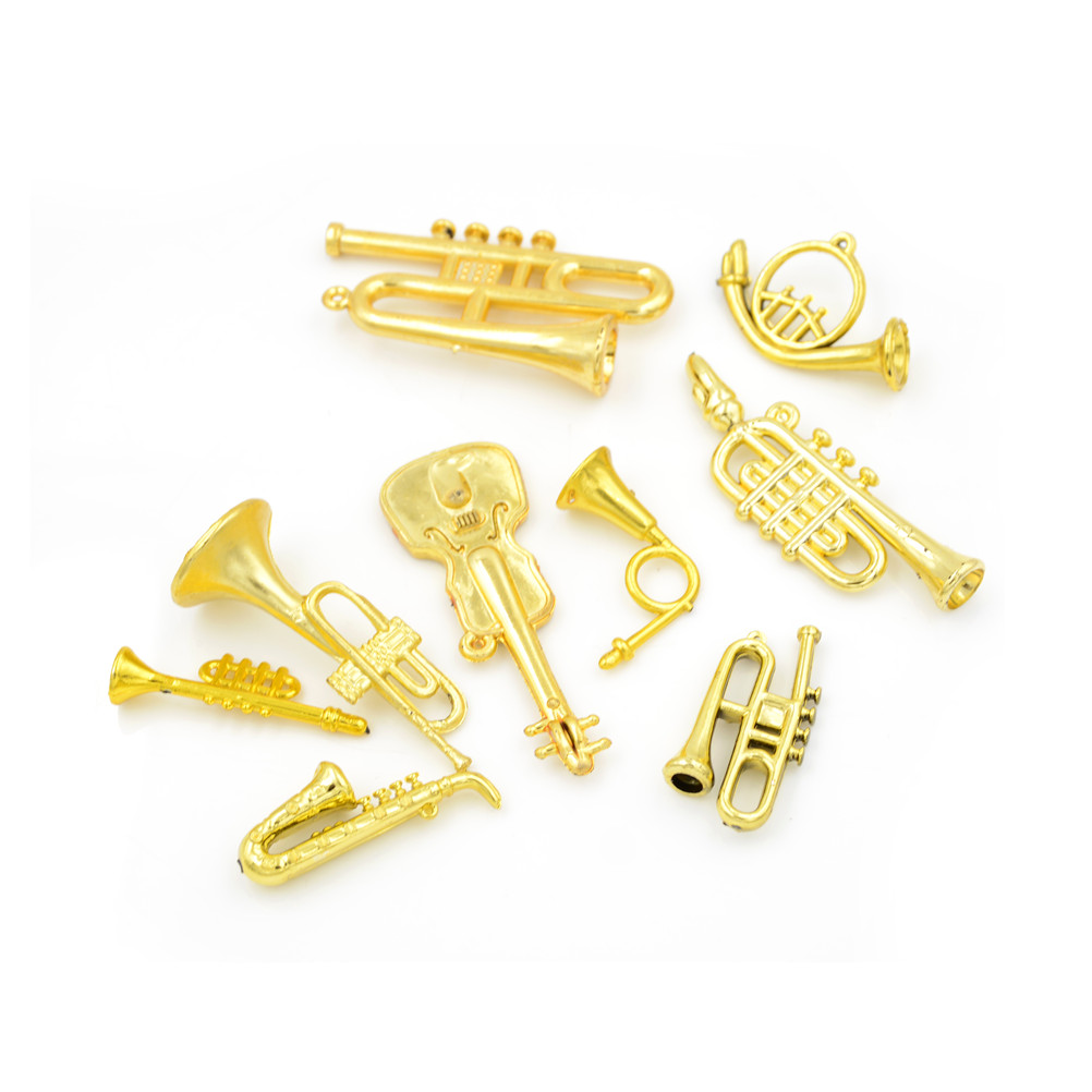 5PCS Creative 1:12 Dollhouse Miniature Plastic Musical Instrument Model Scene Accessories