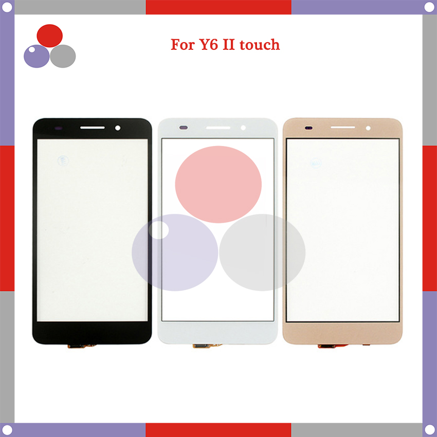 10 шт./лот, высокое качество, для Huawei Y6 II, сенсорный экран, сенсорная панель, дигитайзер, Внешний стеклянный объектив