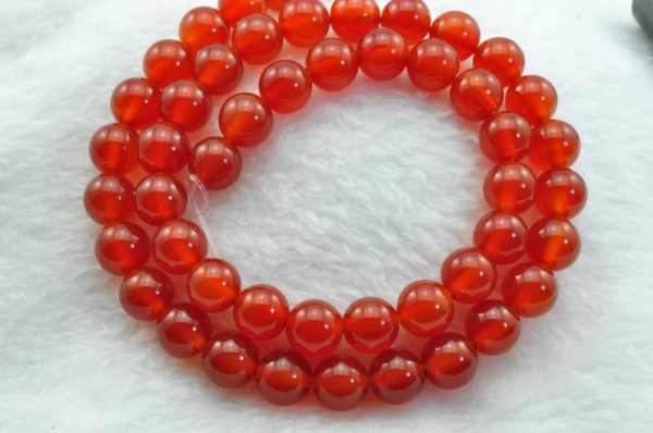 Cornelian smooth Round  beads 8mm 48 pcs