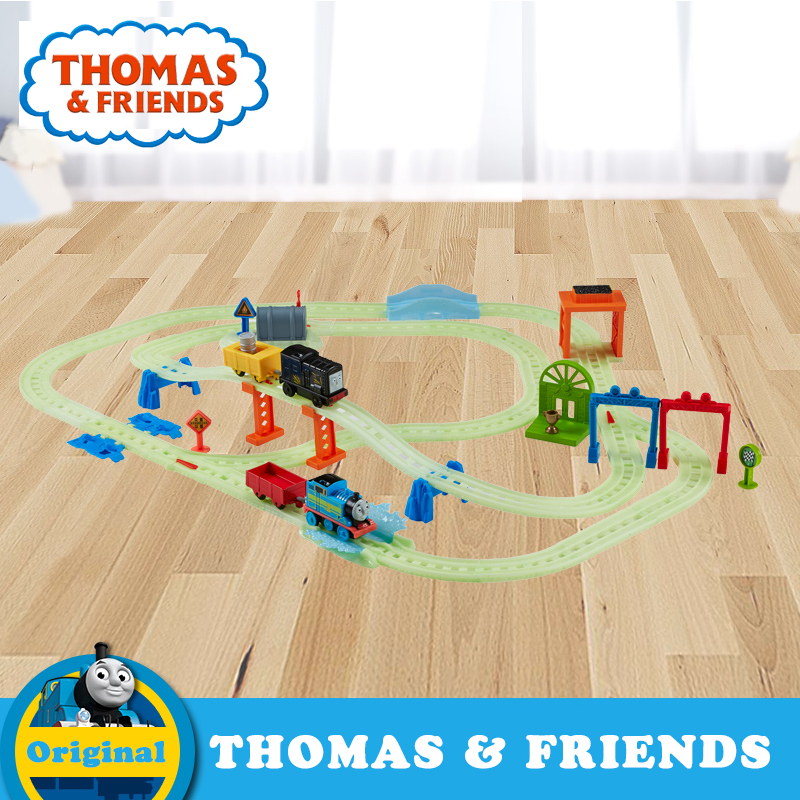 Original Thomas Electric Train Toy for Children Plastic Railway Building Track Car Toy Collection Train Thomas and Friends DMT87
