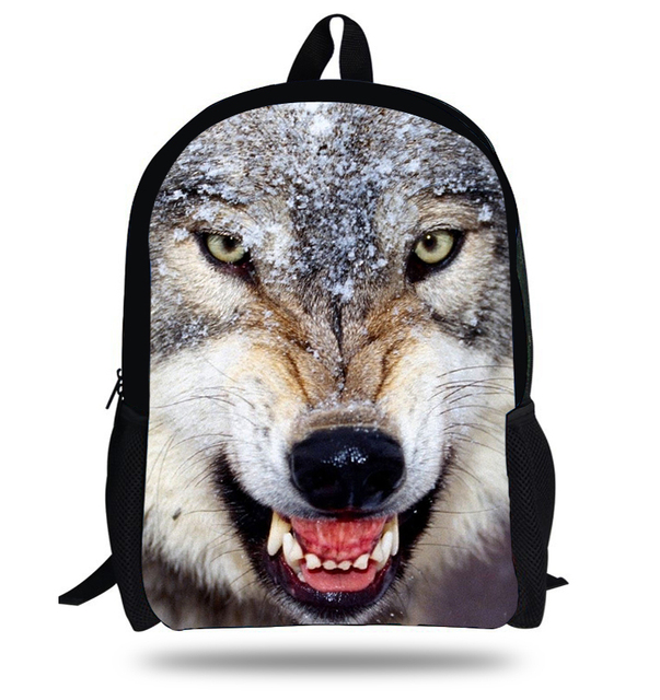 ba702d5c2ba1 16-inch Wolf Backpack Animal Bags Backpack School Boy Fashion Kids Backpack  Children School Bags For Teenager Mochila Escolar