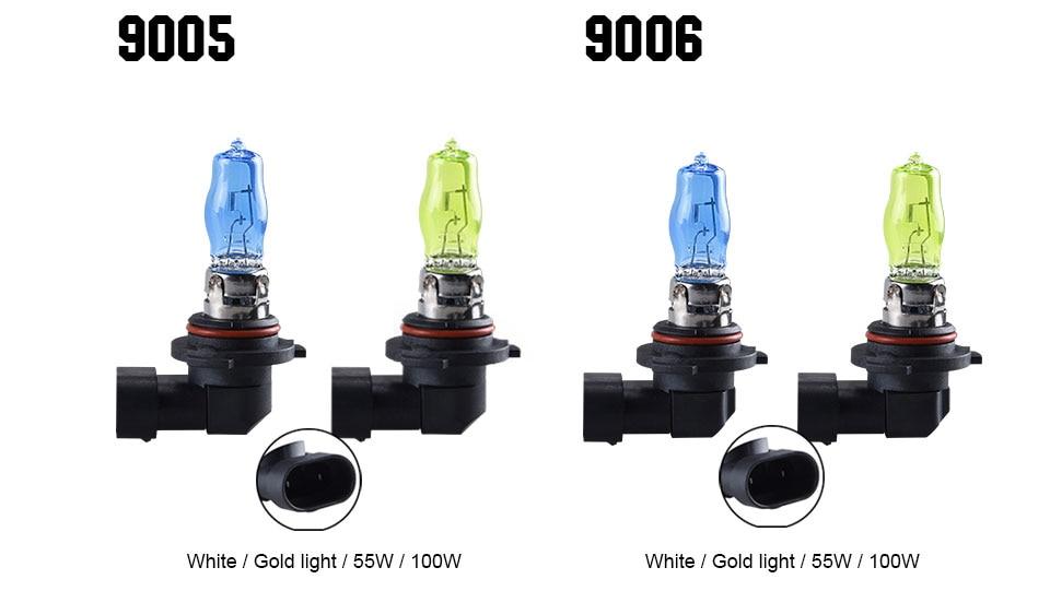 55W 100W Car Light H1 H3 H4 H7 H8 H9 H11 9005 HB3 9006 HB4 Auto Halogen Lamp Bulb Fog Lights 12V 6000K 3000K Headlights Lamp (21)