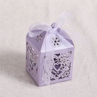 Paper 50Pcs Laser Cut Cake Candy Gift Boxes Wedding Favors Baby Shower Boxes U74 Hot Sale