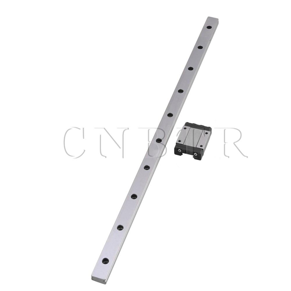 CNBTR 400mm Length Bearing Steel Linear Sliding Guide Slide Rails & MGN15 Linear Extension Block for CNC 3D Printer mr15mn slider 12mn 9mn 7mn 5mn n ml wn wl linear stainless steel rails