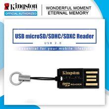 Kingston usb 2.0 micro sd leitor de cartão microsd microsdhc microsdxc flash adaptador de cartão de memória