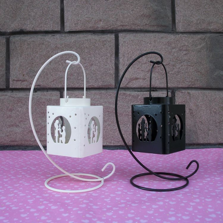 bougeoir de mariage lanterne /à suspendre blanc bougeoir en verre free size Support /à suspendre en forme de vase en verre pour plantes en fer