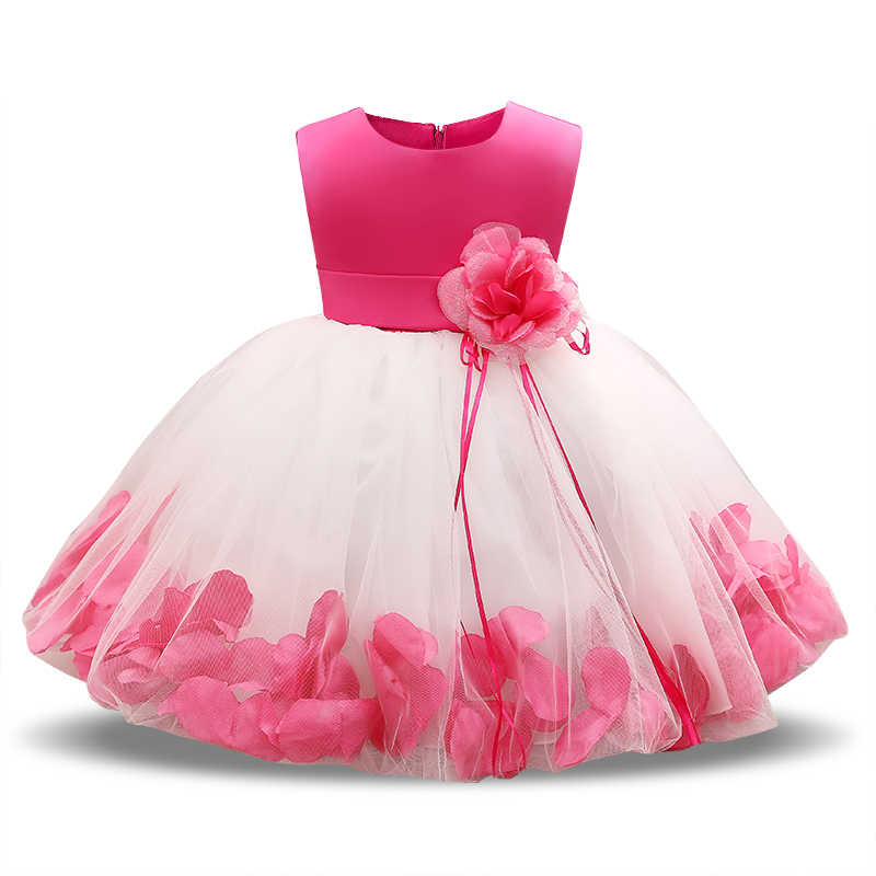 0ba4ad0fd87b Flower Baby 1st 2nd Birthday Outfit Dress Newborn Baby Girl Baptism Clothes  Tutu Christening Wedding Gown