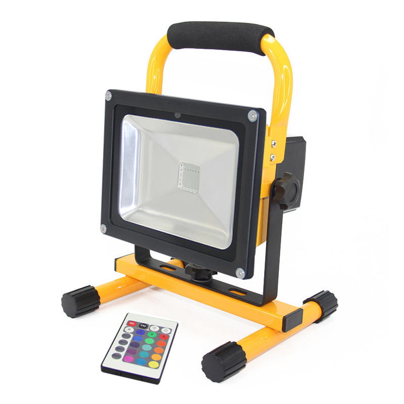 RGB Outdoor Led Flood light 20W rgb Led Floodlight Waterproof IP65 Led Spotlight lamp Landscape lighting+Remote Control F026-1 ultrathin led flood light 100w led floodlight ip65 waterproof ac85v 265v warm cold white led spotlight outdoor lighting