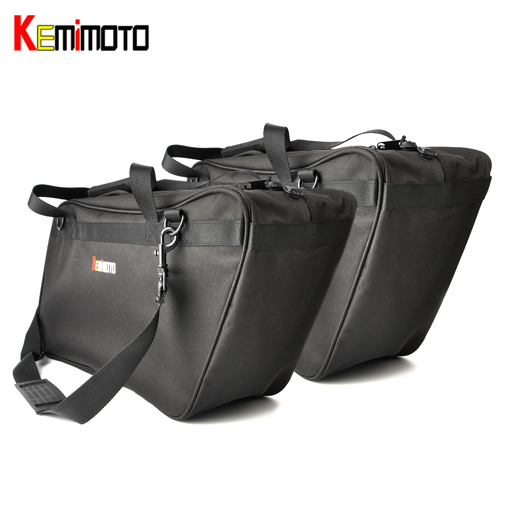 KEMiMOTO Saddlebag Liners For Harley For Kawasaki 2014-2017 Chieftain Roadmaster For Yamaha 2008-2017 Vision защитные пластиковые пакеты plastic liners 100 шт