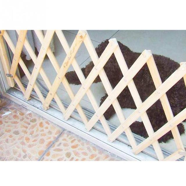 Baby Protection Pet Isolation Fence Pet Isolation Gate Simple Stretchable Wooden Fence