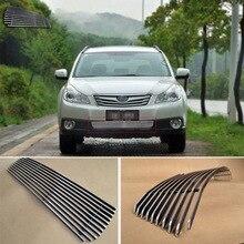Сплав алюминия передний центр Гонки сетки бампер решетки заготовки решетка крышка для Subaru Outback 2009-2012