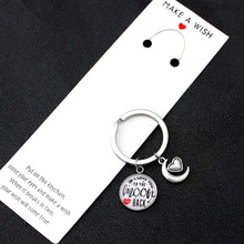 I Love You to The Moon and Back Keychains Keychain Key Chains Keyring Women Men Unisex Jewelry Best Friends Lover Gift