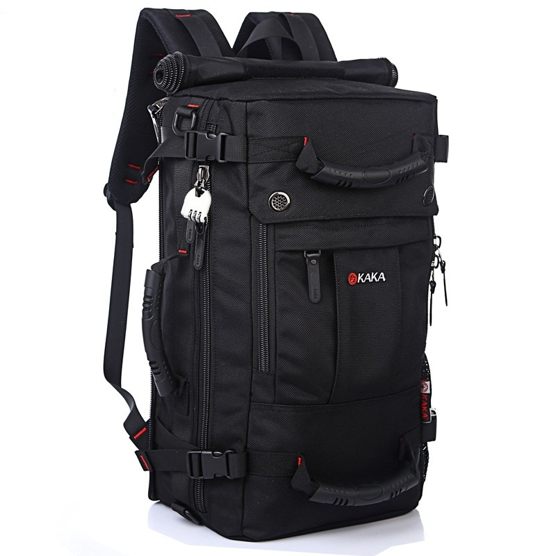 DB92 KAKA Quality Brand Men's Travel Bags Fashion Men Backpacks Men's Multi-purpose Travel Backpack Multifunction Shoulder Bag