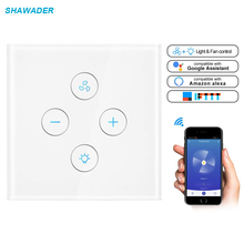 WiFi Smart Wall Switch App Remote Fan Light Control 110-220V Homekit Work with Alexa Google Home Life for