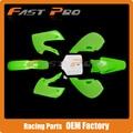 Complete Body Plastics Kits For KLX110 KX65 DRZ110 KLX Dirt Pit Bike MX Motocross Enduro Supermoto SM