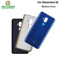"Ocolor עבור Blackview S8 סוללה כיסוי מקרה 5.7 ""קשה Bateria מגן כיסוי אחורי החלפה עבור Blackview S8 נייד טלפון"