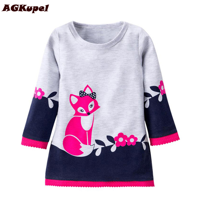 Agkupel New Cotton Girl Dress Princess Thick Section Long Sleeves