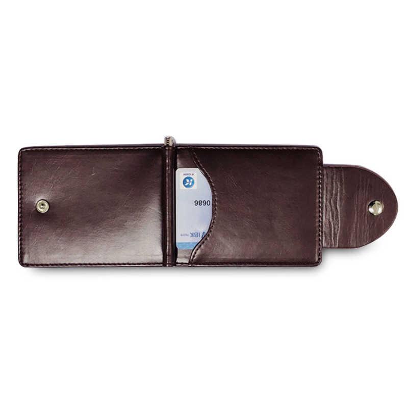 KUDIAN медведь кожаный мужской кошелек короткий зажим для денег металлический тонкий мужской Portefeuille Femme Повседневная Carteira Feminina BID249PM49