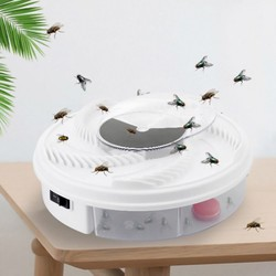 Electric Flycatcher Automatic Silent Rotating Fly Catcher Pest Reject Control Catcher Mosquito Killer Fly Trap 5076