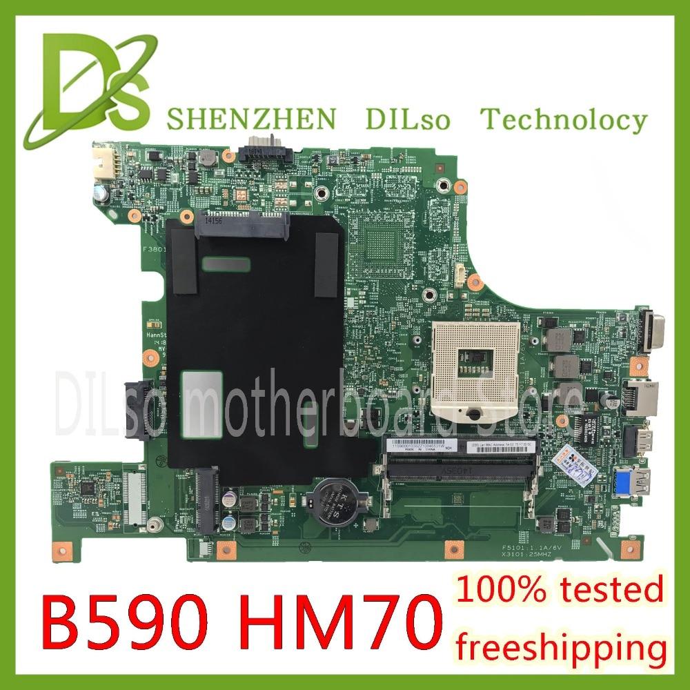 Kefu B590 плата для lenovo B590 B580 Материнская плата ноутбука PGA989 HM70 Тесты работу Оригинал 100%