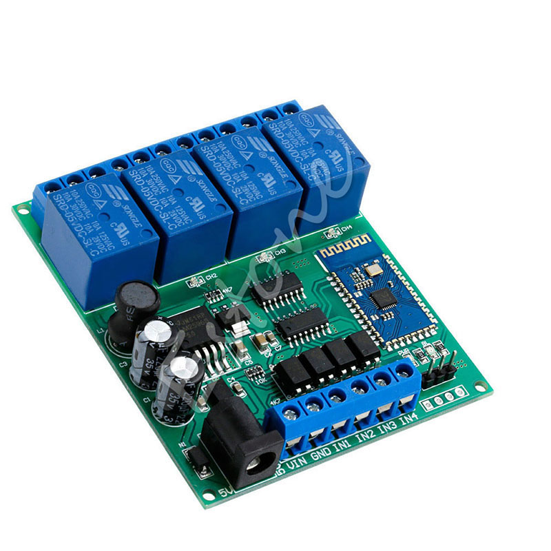 4-Channel Bluetooth Relay DC 5V 9V 12V 24V Module Wireless Remote Control Switch dc 3 5v 12v mini relay 2 receiver