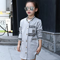Baby Girl Jaqueta de Beisebol Casaco 2017 Nova Chegada de Moda Ao Ar Livre jaqueta Jaqueta Casaco Criança Crianças Casaco Menina Doce Da Menina Do Esporte roupas