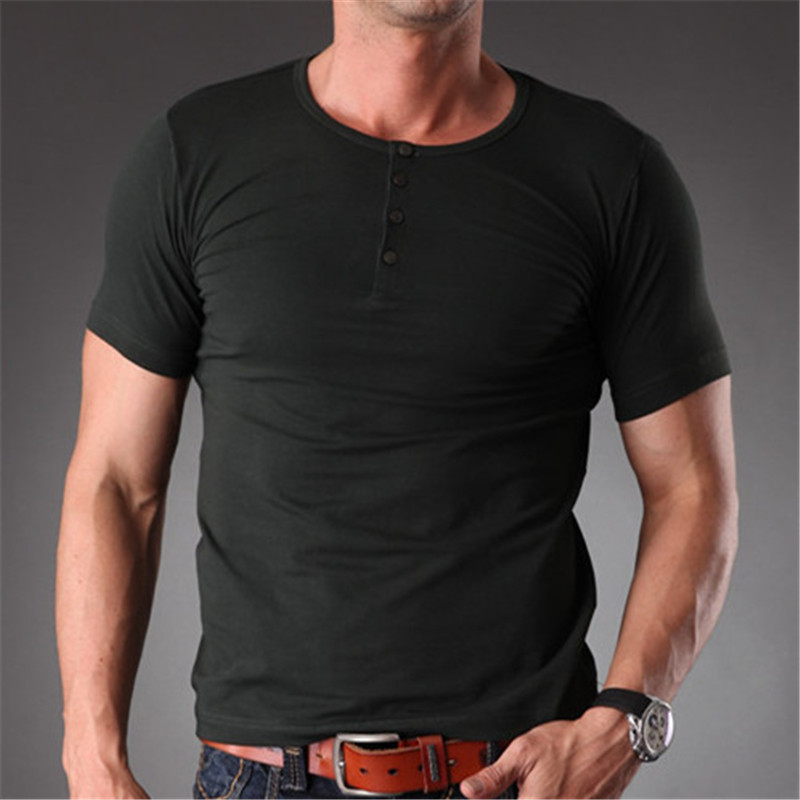 d325666c7 Plain Blank T Shirt Men 2017 Cotton Spandex Stretchy Muscle Body Slim Fit  Short Sleeve Summer Clothes For Men MT 1355-in T-Shirts from Men's Clothing  ...