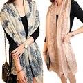 1 pcs Moda Mulheres Longo Imprimir Algodão Macio Envoltório Do Lenço Das Senhoras Longo Xale lenços echarpes femme