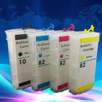 4 шт. 130 мл пустой многоразовый картридж для HP10 82 C4844A C4911A C4912A C4913A для HP DesignJet 500ps 800ps 815mfp