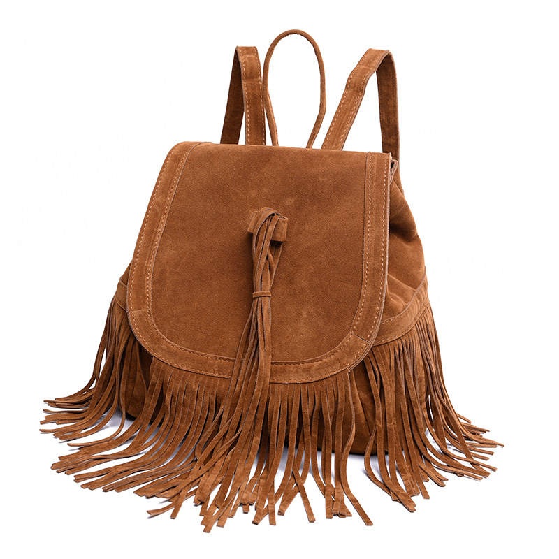 backpack women with fashion tassel backpacks for teenage girls Travel Bags