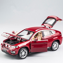 цены KIDAMI 1:32 Alloy Pull Back Diecast X6 car Model with Sound Light,boys Collection Gift Toy For children boys toy cars siku