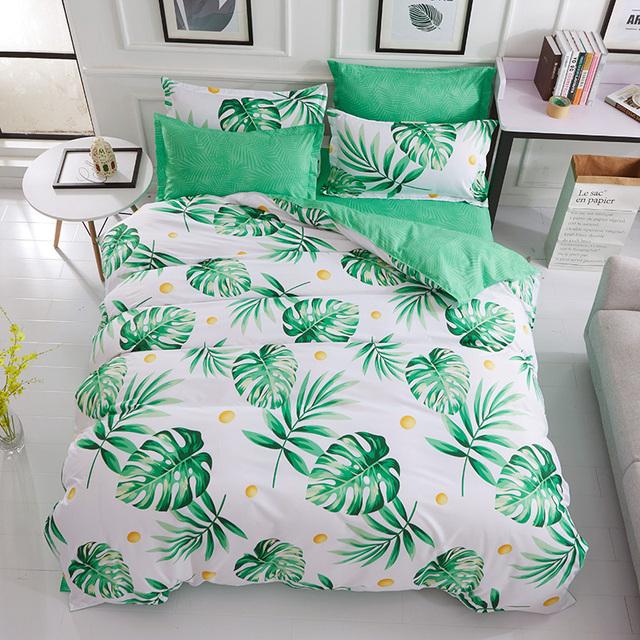 Green Floral Bedding Set