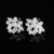 2016 cadena de la hoja imitada mujeres collar/pendiente de la joyería nupcial conjunto plateado plata de la boda accesorios matrimonio bijou D032