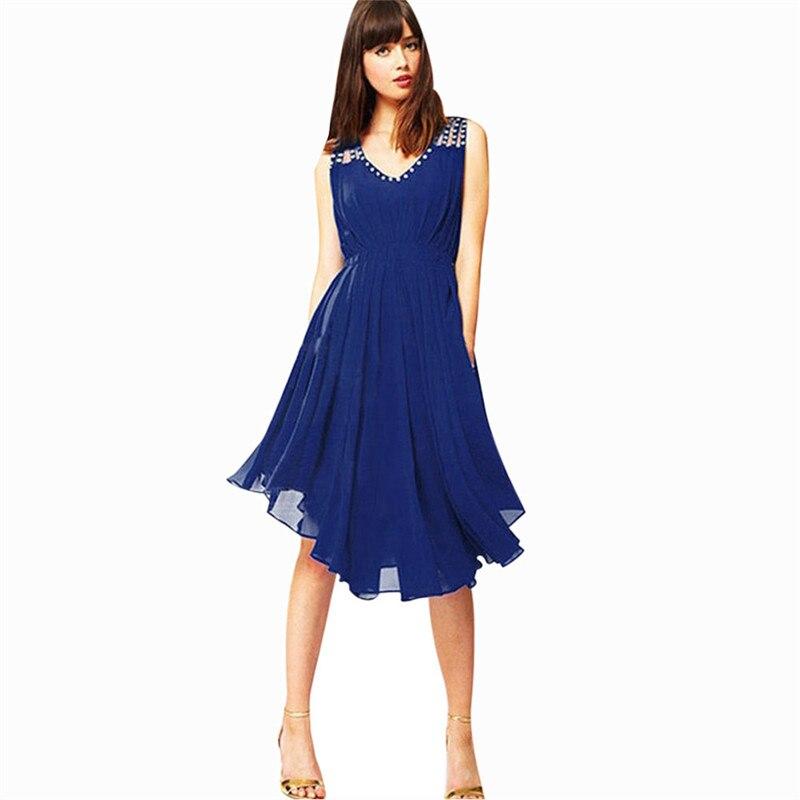 snowshine YLI Womens Beach Chiffon Sleeveless Party Evening Short Mini Dress free shipping