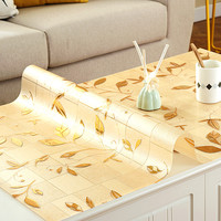 Custom pvc tablecloth Golden leaves Coffee table tablecloths waterproof rectangle Heat resistant table pad dining table mat