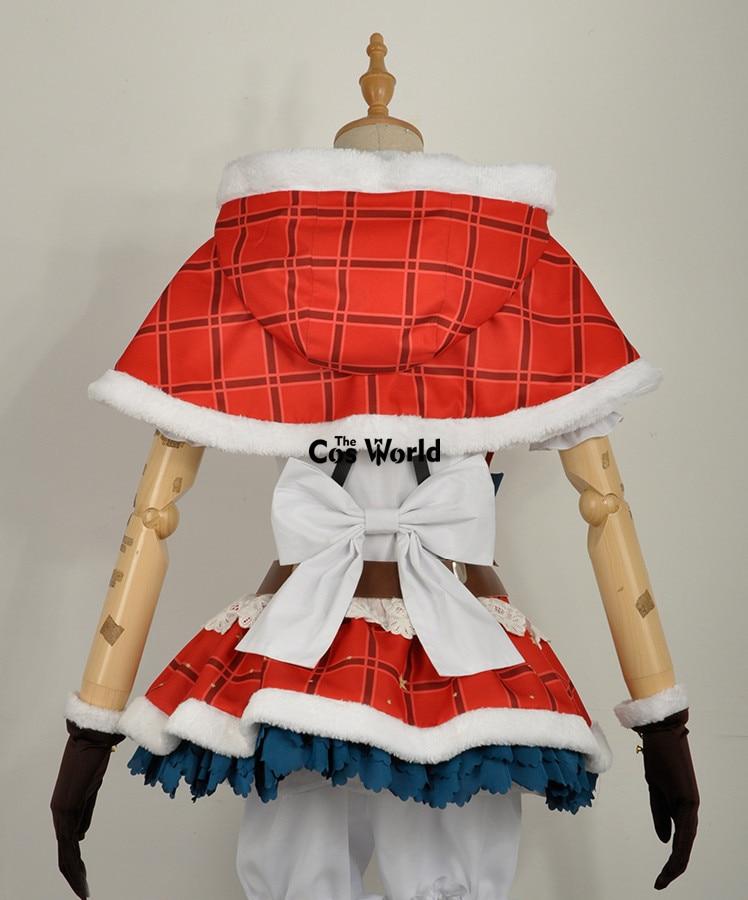 Love Live!Christmas Xmas Nishikino Maki COSplay Costume Cape Suit Dress Outfit