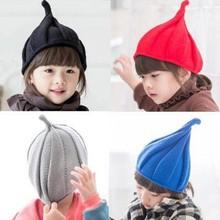 1 8Y Children Hat Christmas Baby Girls Boy Autumn Winter Weatherization Pointy Kids Knitted Hats Cap