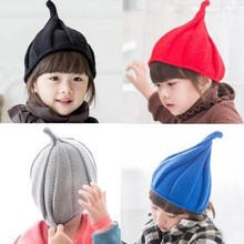 1-8Y Children Hat Christmas Baby Girls Boy Autumn Winter Weatherization Pointy Kids Knitted Hats Cap Tide Shall Windmill