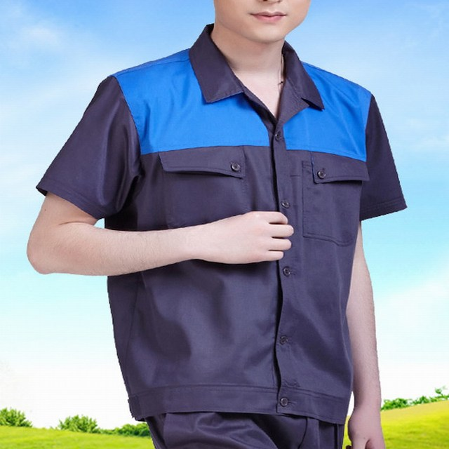 Thin style Short-sleeve work wear set summer workwear work clothes protective clothing tooling clothes
