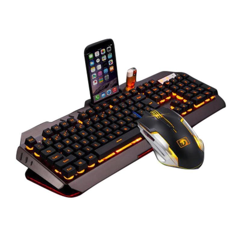 SHELI ensemble clavier et souris Gamer filaire 6 boutons optique Gamer MiceCombo RGB rétro-éclairage pour ordinateur portable PC portable