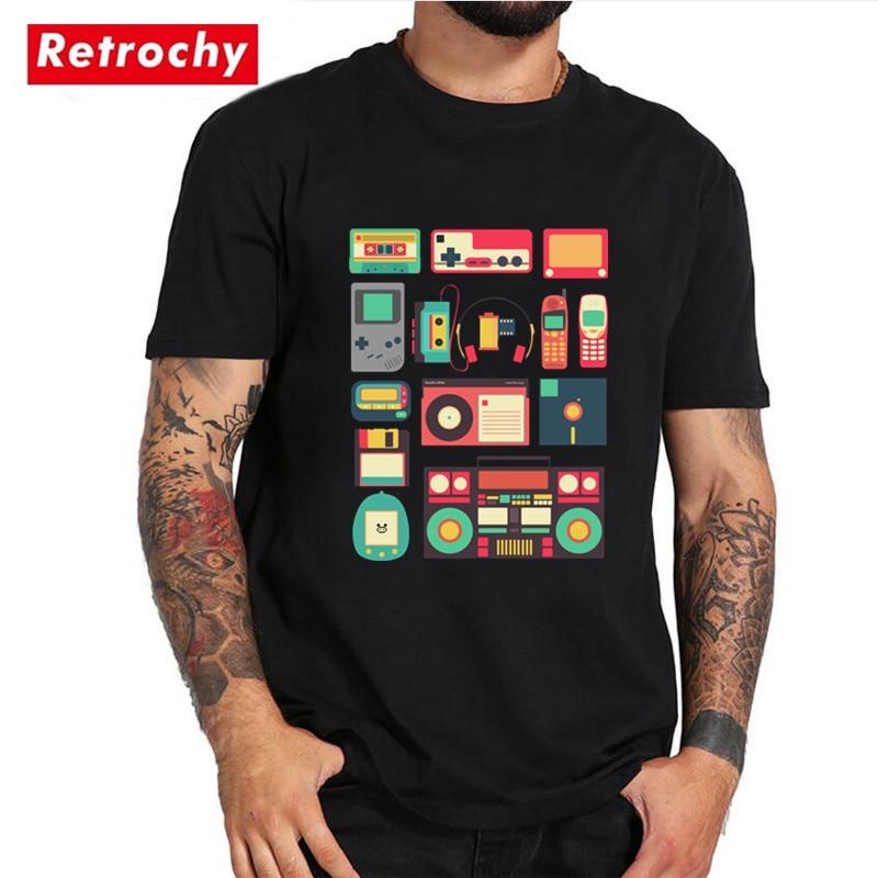 RETRO TECHNOLOGY T Shirt Vintage Cool Music Man summer funny cotton short sleeves T-shirt Hip Hop creative tshirt Cheap Clothing