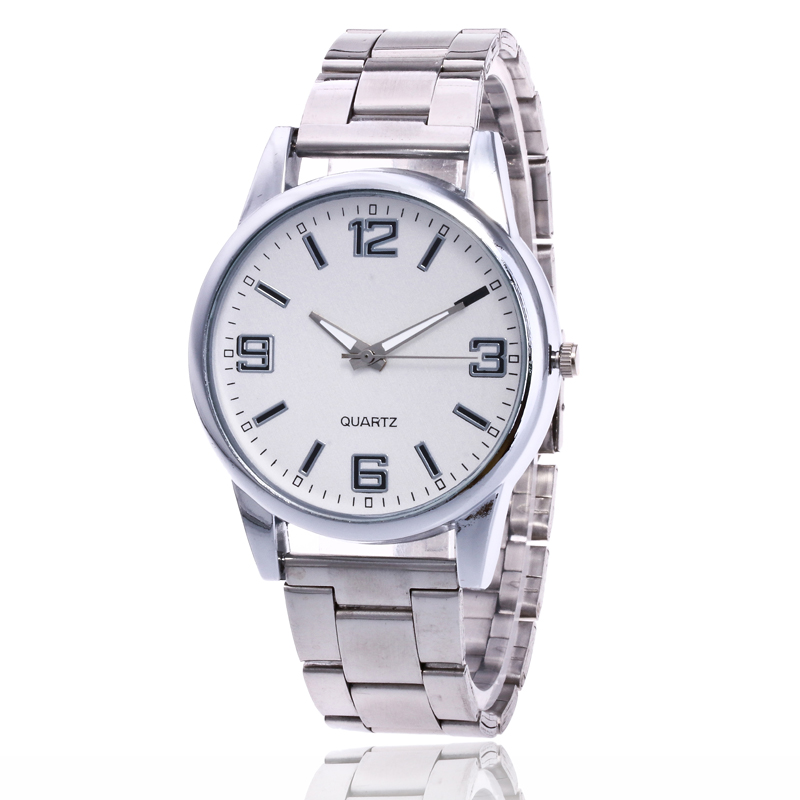 Business Mens Watches Top Brand Luxury Quartz Watch Men And Women Casual 3 Colors Steel Strap Sport Watch Relogio Masculino