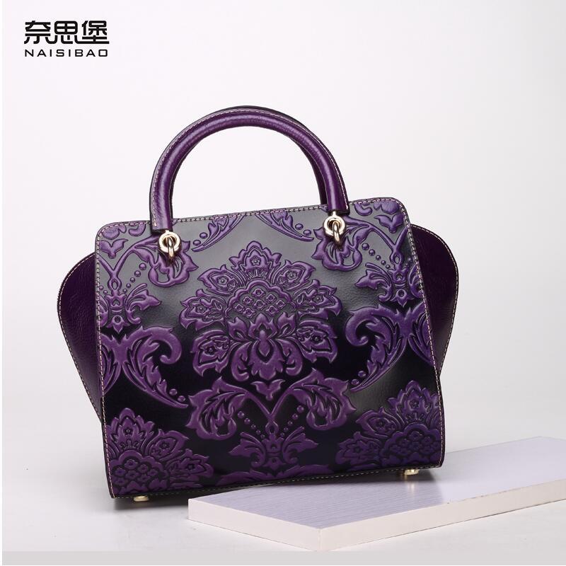 2017 New genuine leather bag luxury handbags designer fashion chinese style women bag quality leather handbags shoulder bag